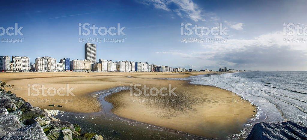 The beach at Ostend, Belgium stock photo