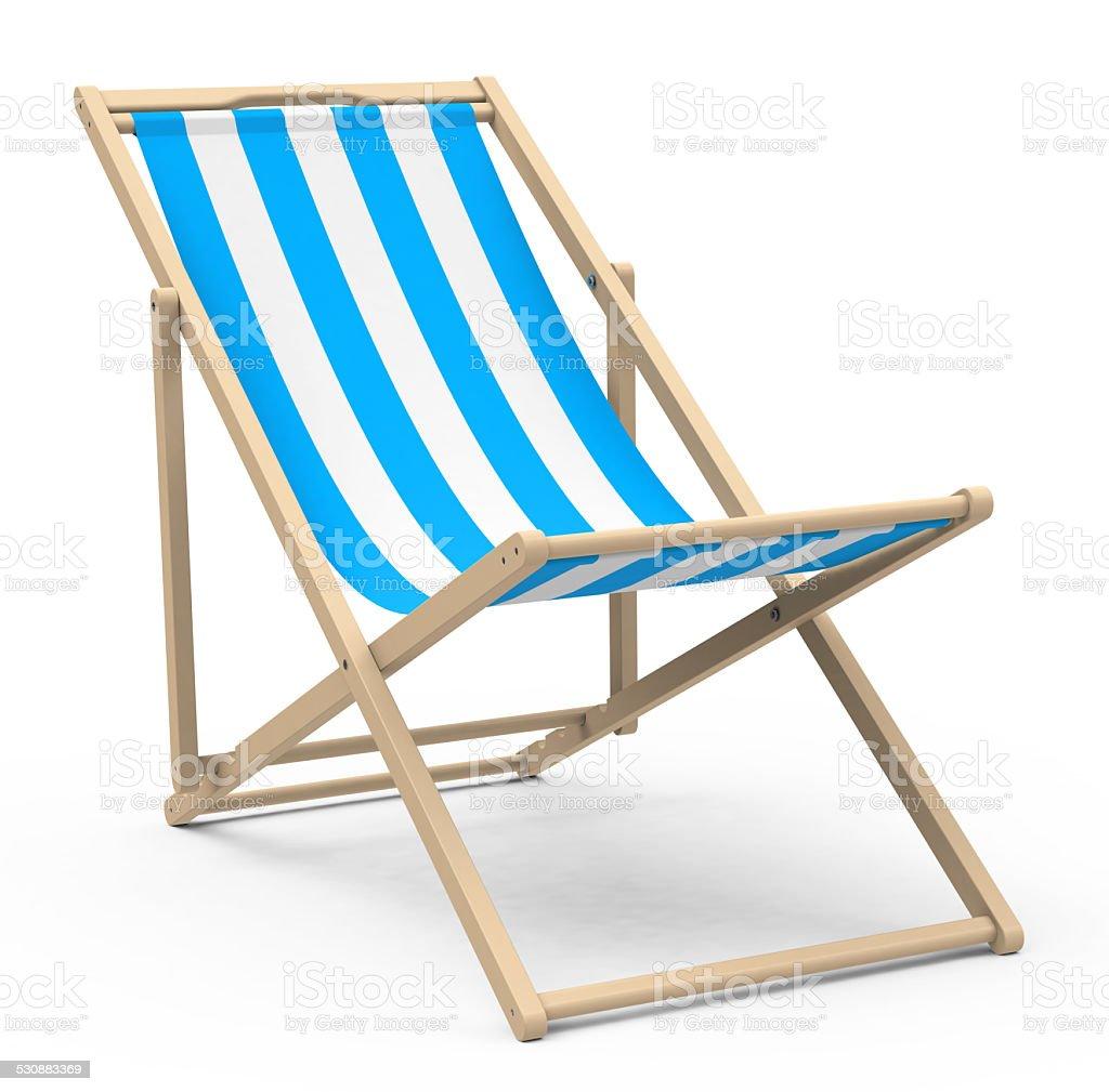 the beach chair stock photo