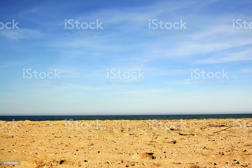 The Beach - High Contrast royalty-free stock photo