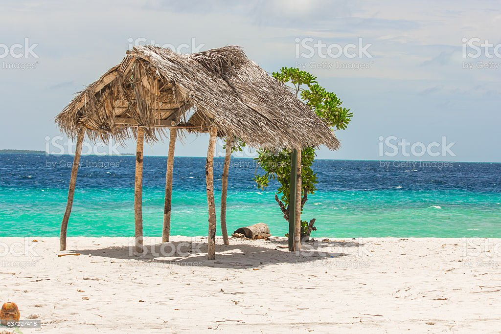 The Beach in Maldives stock photo