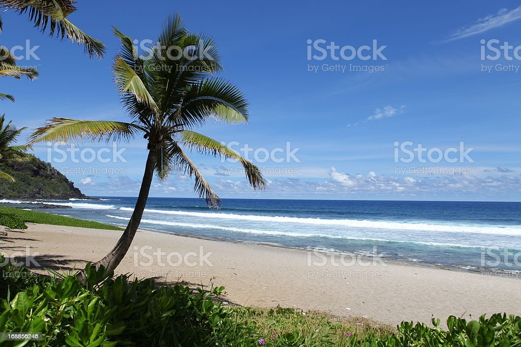 La Reunión beach. stock photo