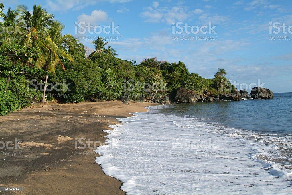 The beach of Boueni on Mayotte island stock photo