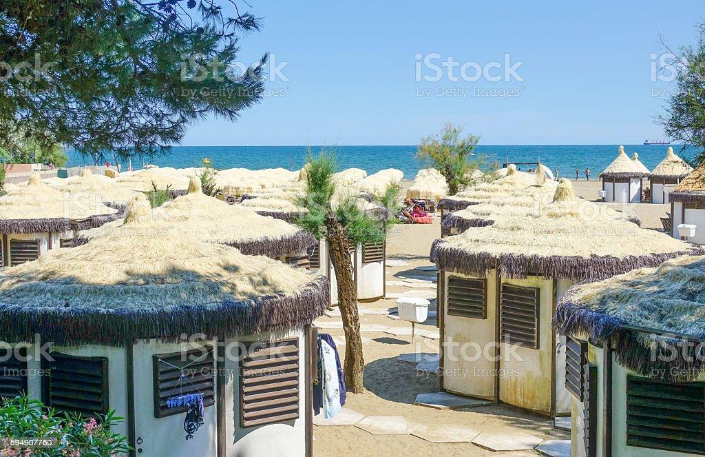 The Beach of Lido in Venice Lizenzfreies stock-foto