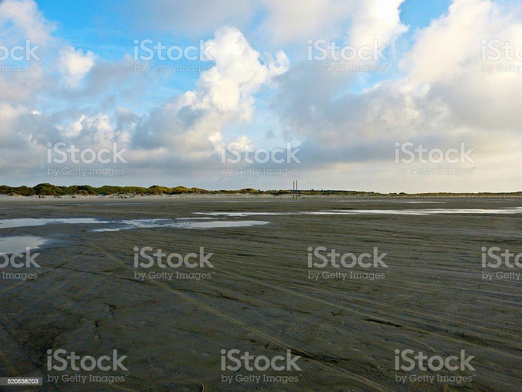 The beach of Saint Peter Ording - North Sea-coast, Germany stock photo