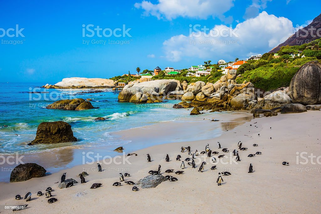The beach on the Atlantic coast stock photo
