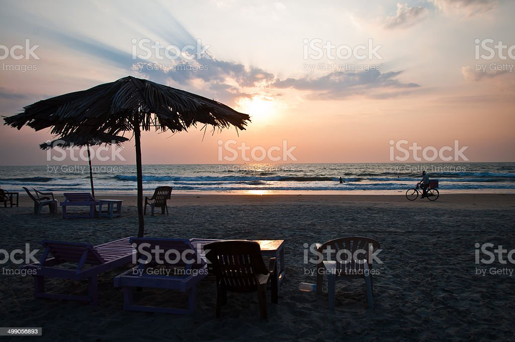 The beach story stock photo