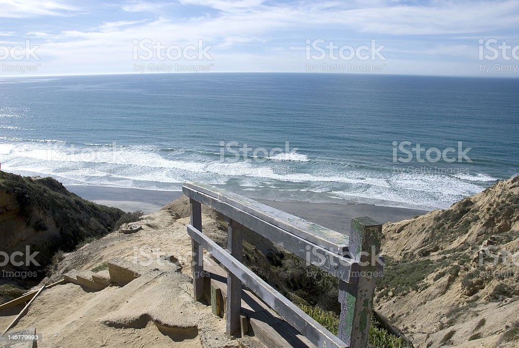 The beaches and cliffs of Torrey Pines, California stock photo