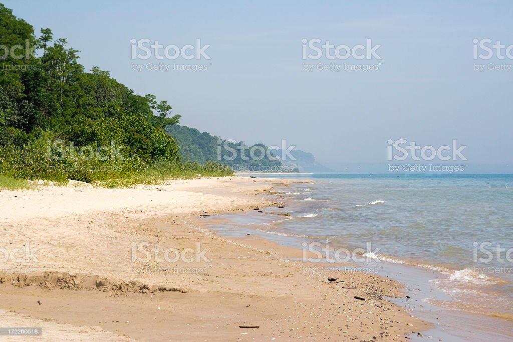 The Beaches at Lake Michigan royalty-free stock photo