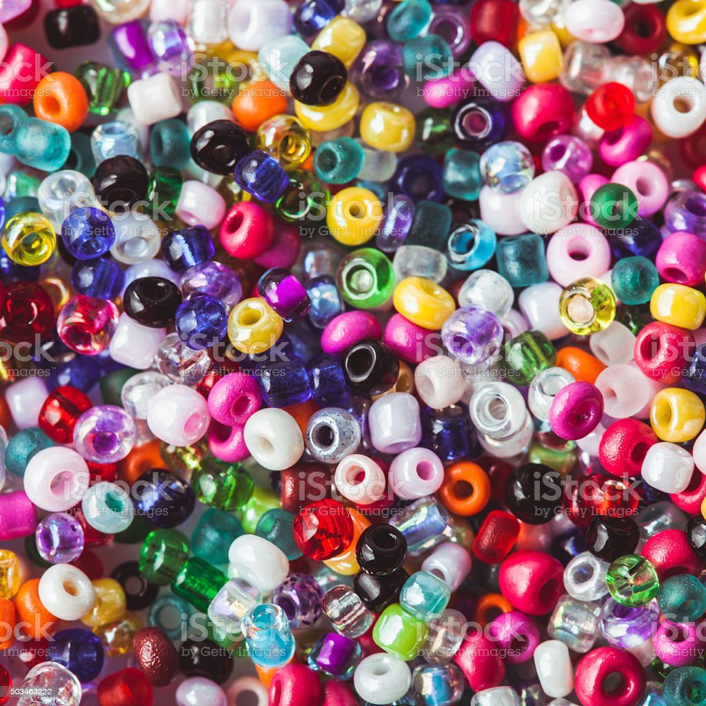 The beads background stock photo