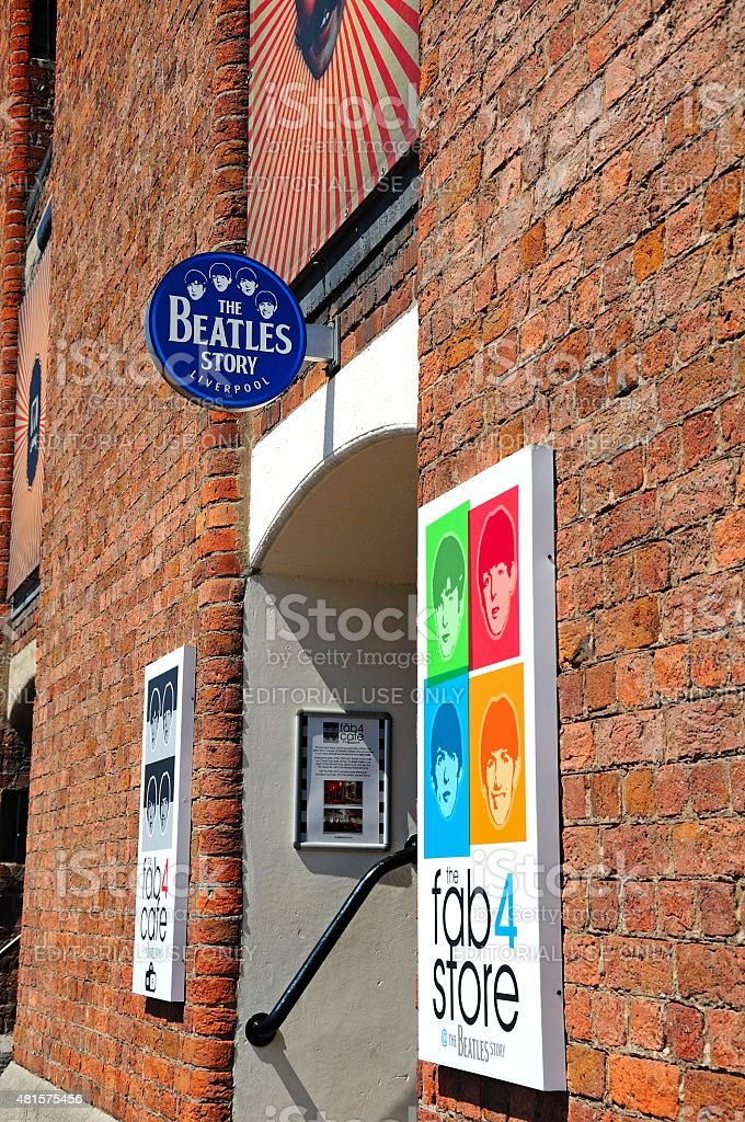 The Beatles Story Building, Liverpool. stock photo