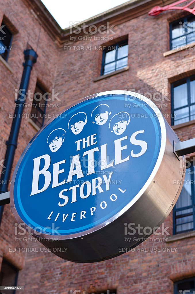 The Beatles Story, museum sign, Liverpool stock photo