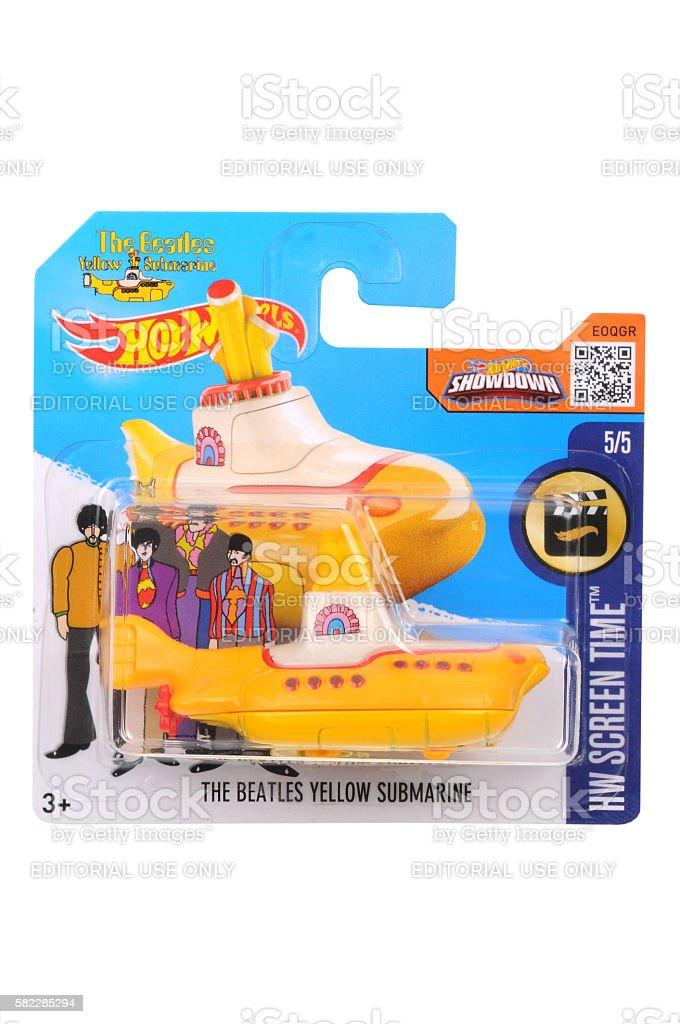 The Beatles Yellow Submarine Hot Wheels Diecast Toy Vehicle stock photo