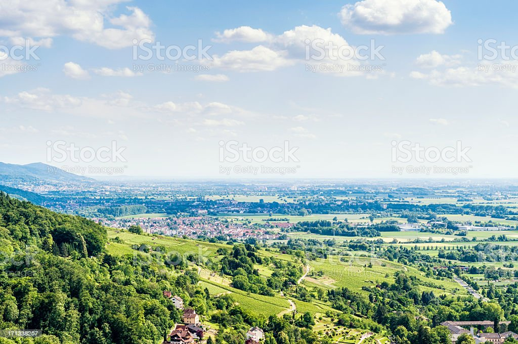 The beautiful Bergstrasse in Germany stock photo