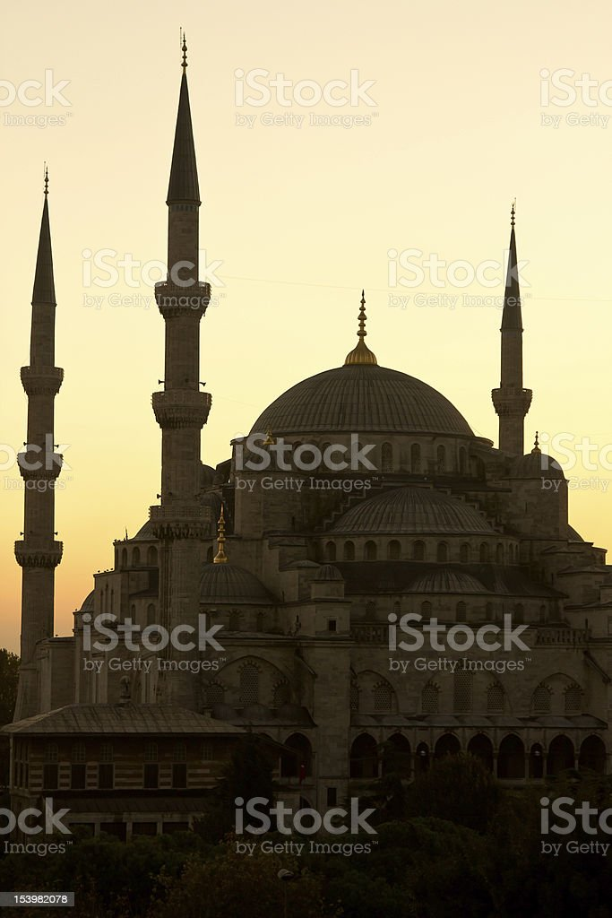 The Beautiful Blue Mosque  - vertical picture royalty-free stock photo