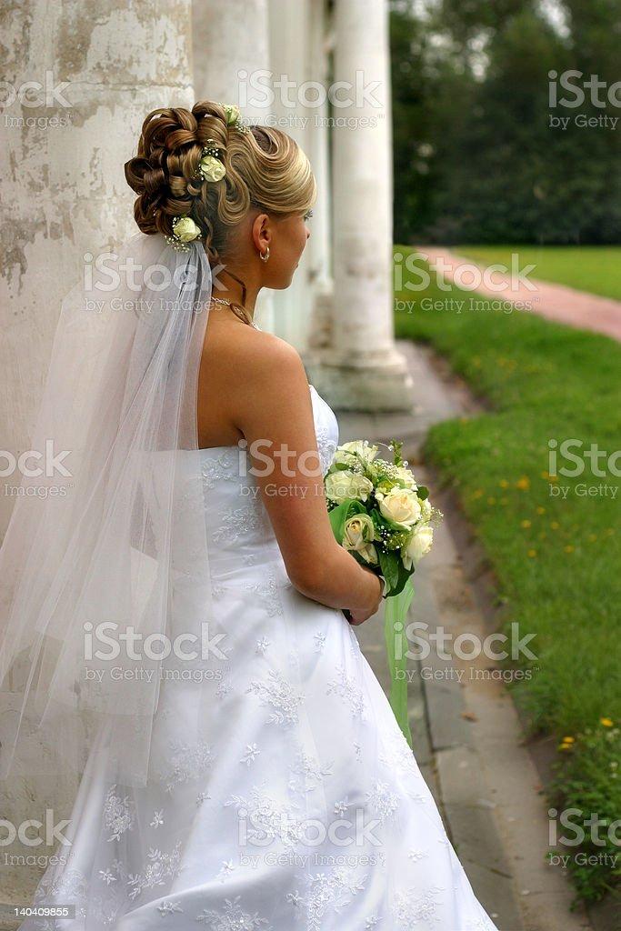 The beautiful bride royalty-free stock photo