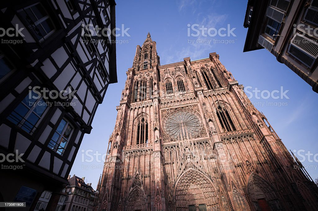 The beautiful Cathedral of Our Lady at Strasbourg royalty-free stock photo