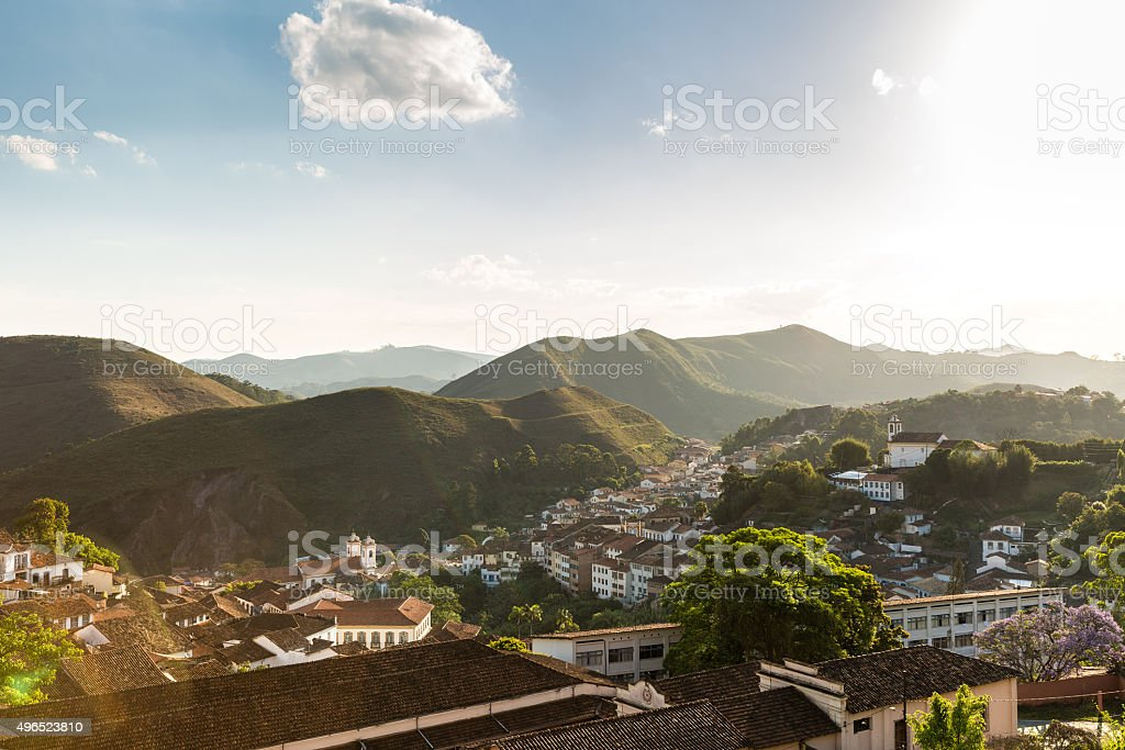 The beautiful city of Ouro Preto in Minas Gerais, Brazil stock photo
