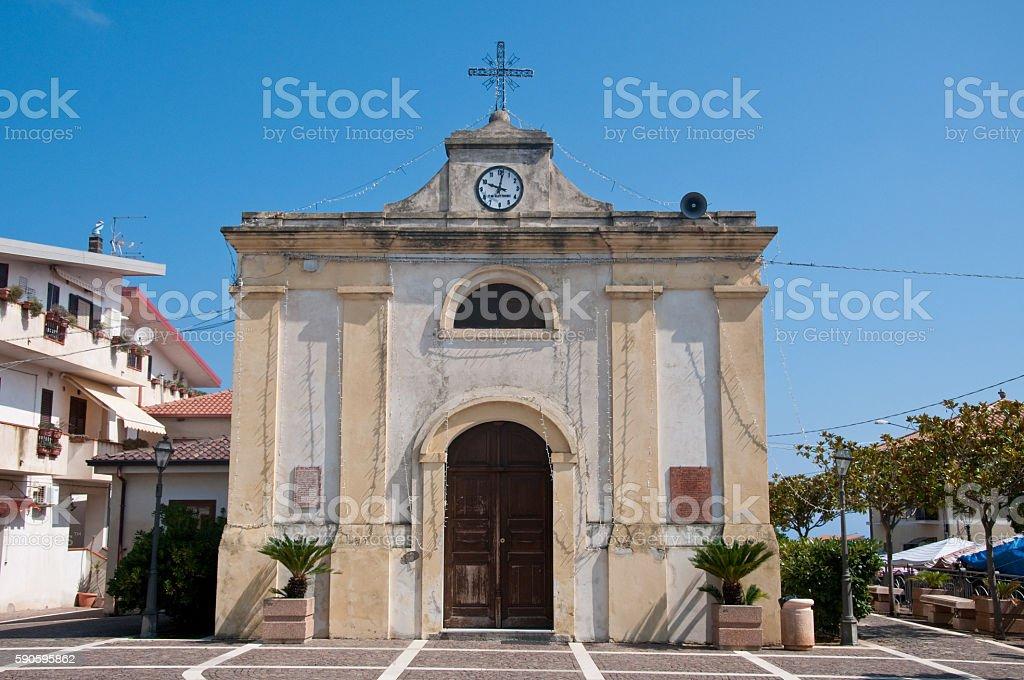 the beautiful city of zambrone in Calabria stock photo