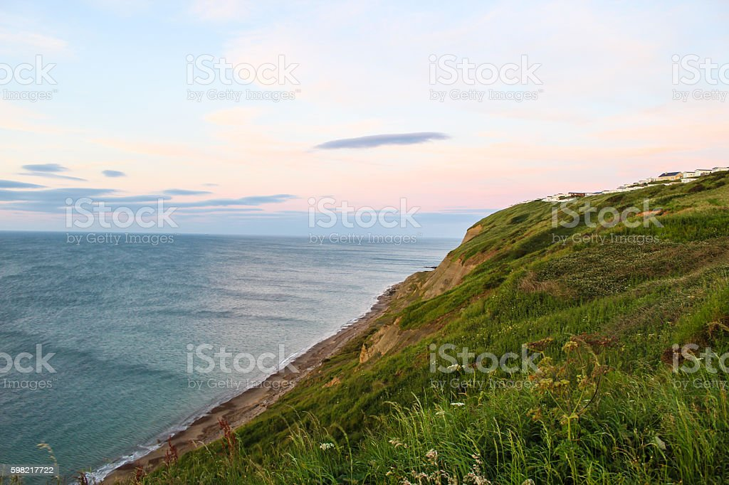 The beautiful cliffs of East Yorkshire stock photo