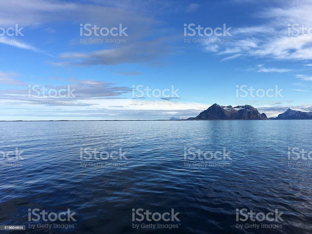 Le magnifique littoral dans le nord de la Norvège. photo libre de droits