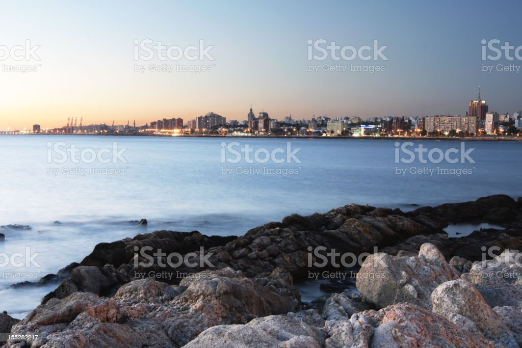 The beautiful coastline of Montevideo royalty-free stock photo