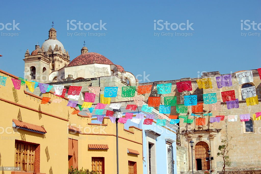 The beautiful, colorful city of Oaxaca stock photo