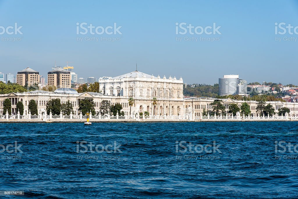 The beautiful Dolmabahce Palace stock photo