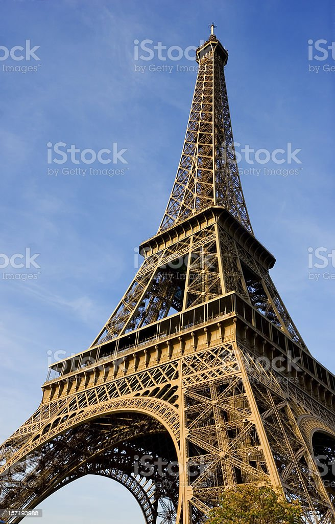 The Beautiful Eiffel Tower in Paris royalty-free stock photo