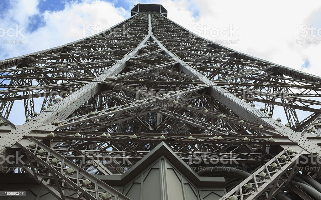 The Beautiful Eiffel Tower in Paris stock photo