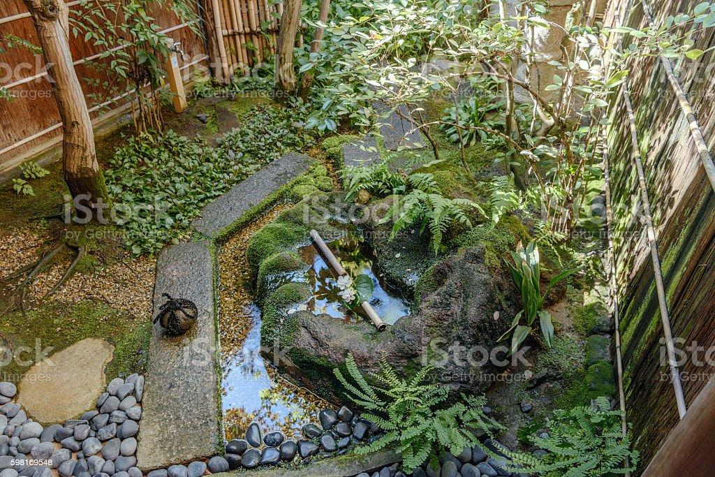 The beautiful Japanese spot garden stock photo