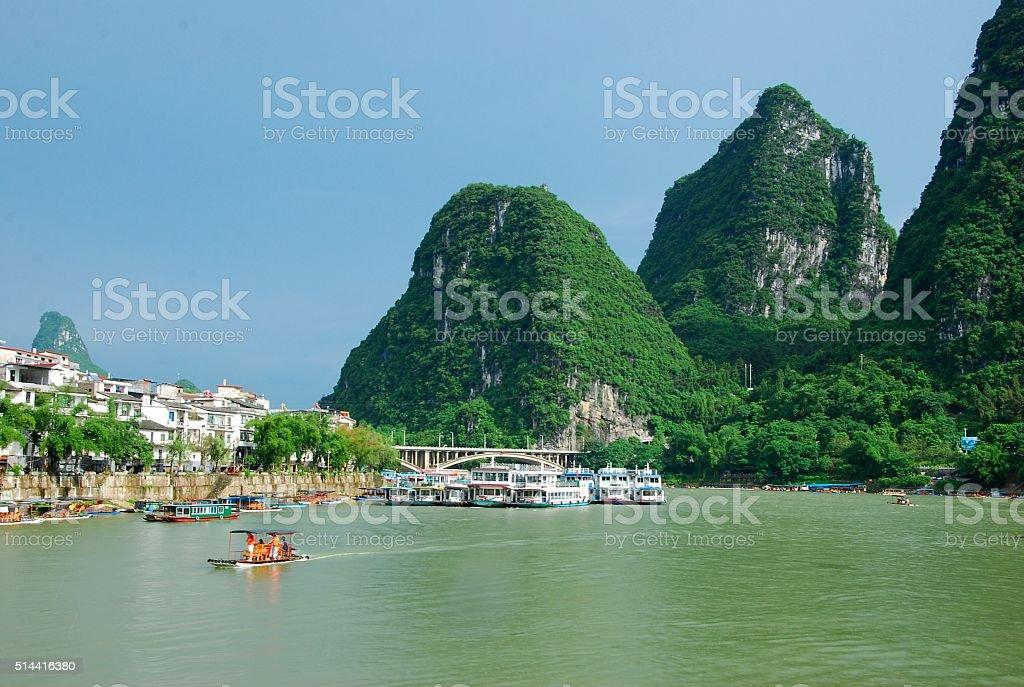 The beautiful landscape of Li river stock photo