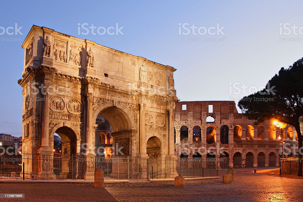 The Beautiful Monumental Arch of Constantine stock photo
