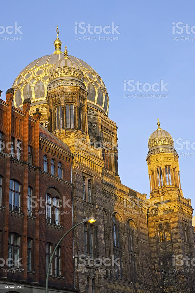 The beautiful New Synagogue in Berlin stock photo