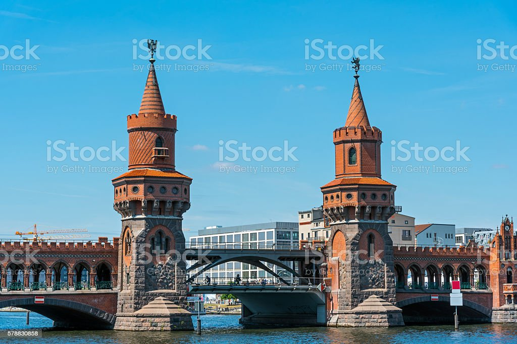 The beautiful Oberbaumbruecke stock photo
