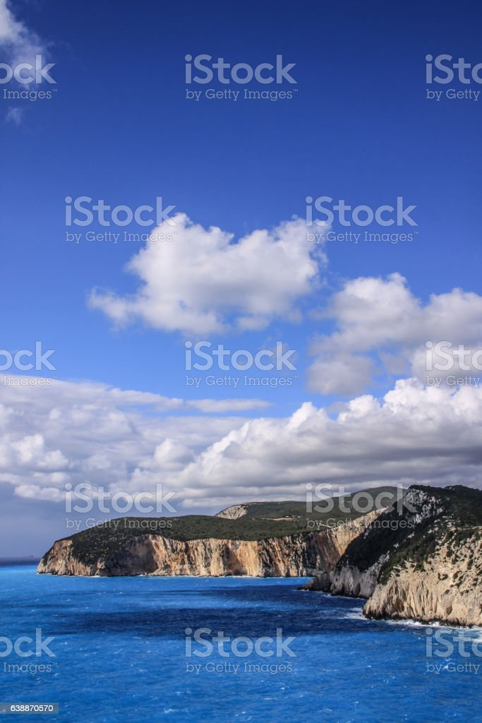 The beautiful Porto Katsiki, Lefkada, Greece stock photo