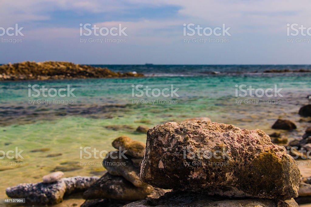The Beautiful rock stock photo