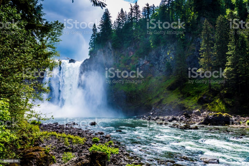 The Beautiful Snoqualmie Waterfall stock photo