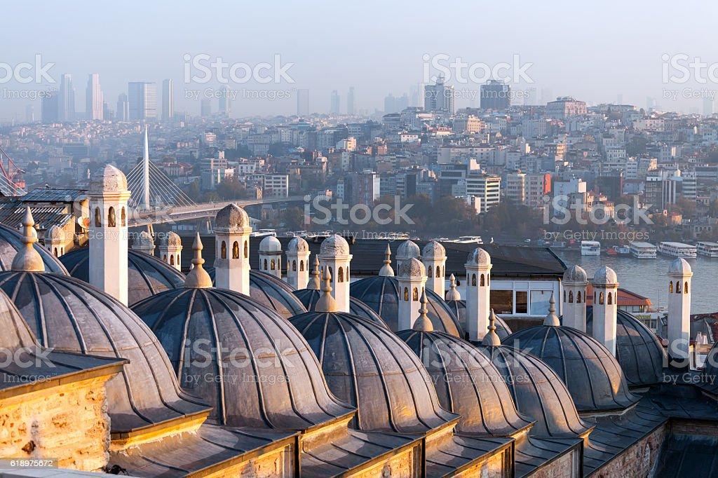 The beautiful Suleymaniye mosque in Istanbul, Turkey stock photo