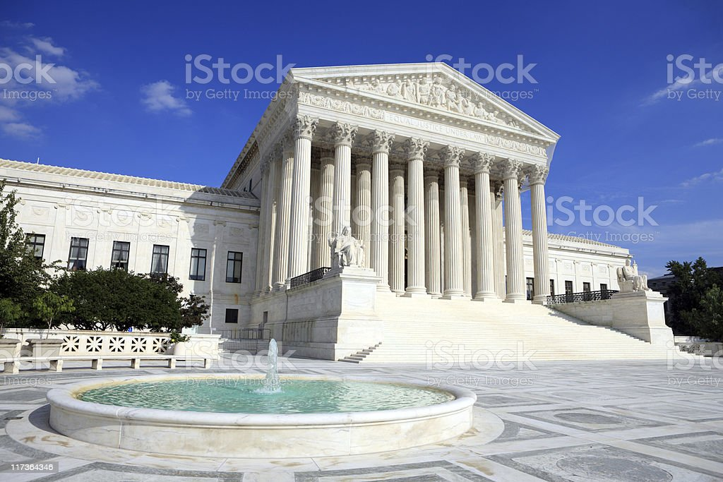 The beautiful US Supreme Court Palace in Washington, DC royalty-free stock photo