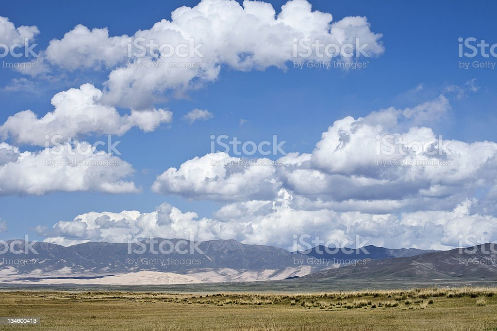 The beautiful vast grass land of Qinghai royalty-free stock photo