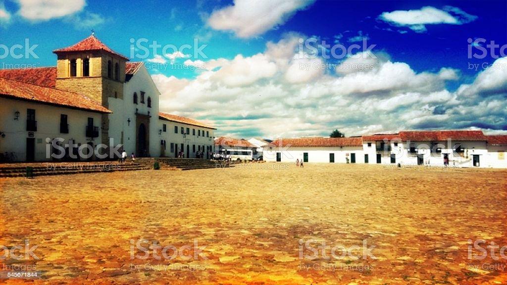 The beautiful Villa de Leyva stock photo