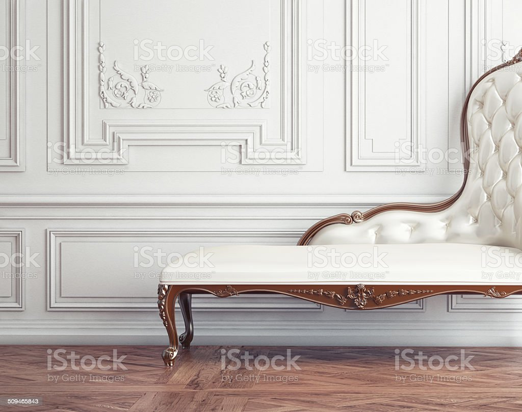 The beautiful vintage sofa stock photo