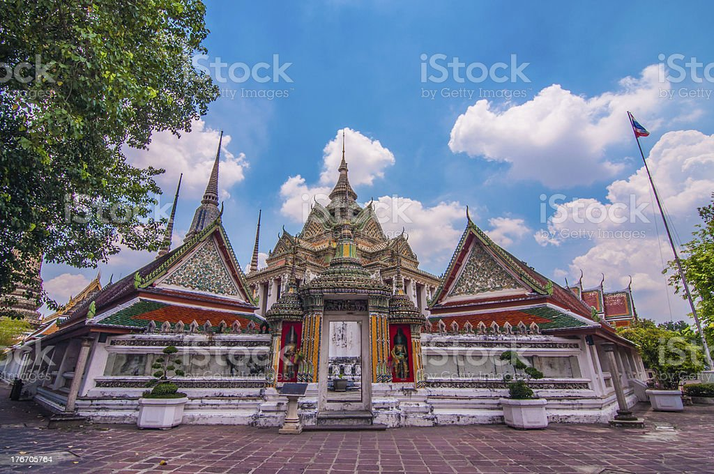 The beautiful Wat Pho in Bangkok, Thailand royalty-free stock photo