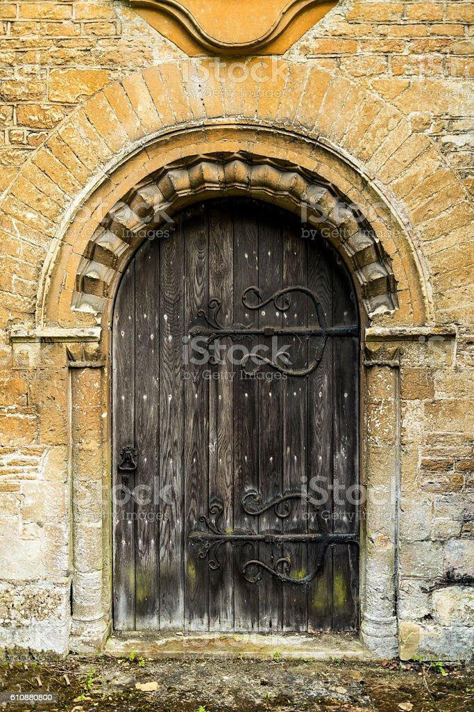 The beautifully detailed doorway stock photo