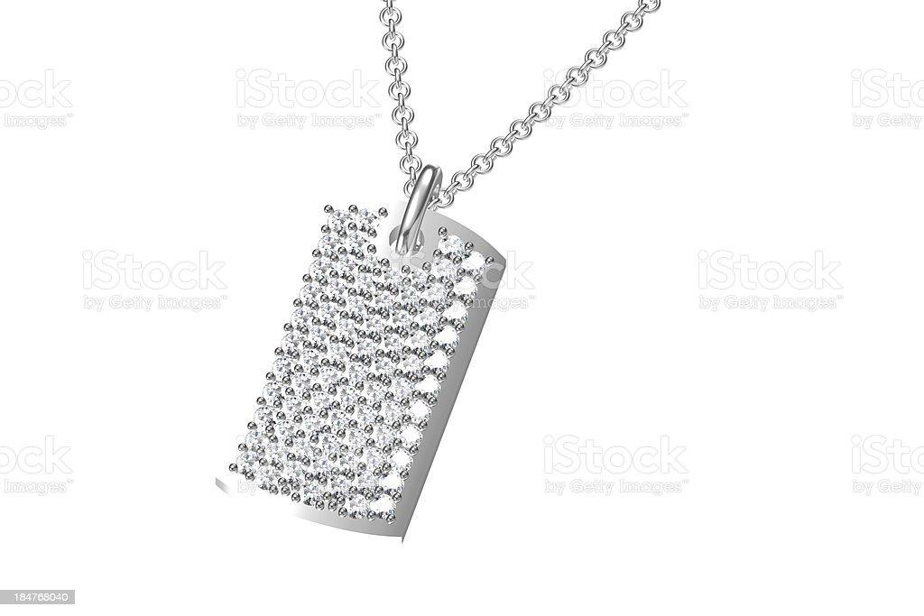 The beauty diamond pendant royalty-free stock photo