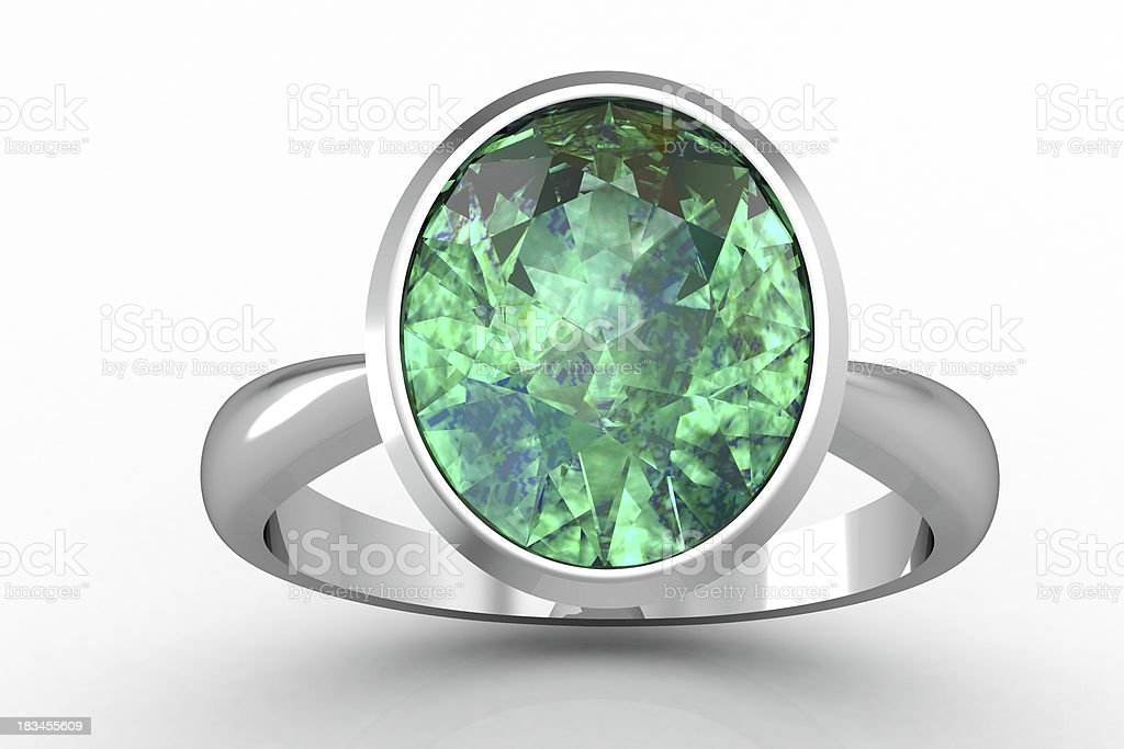 The beauty emerald  ring royalty-free stock photo