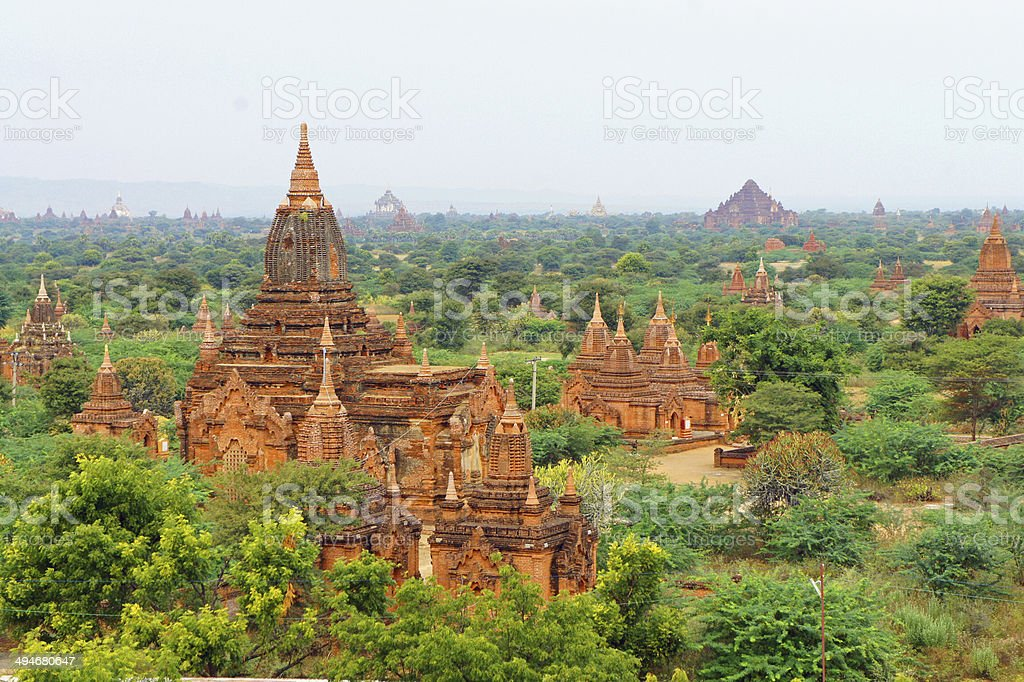 the beauty of bagan stock photo
