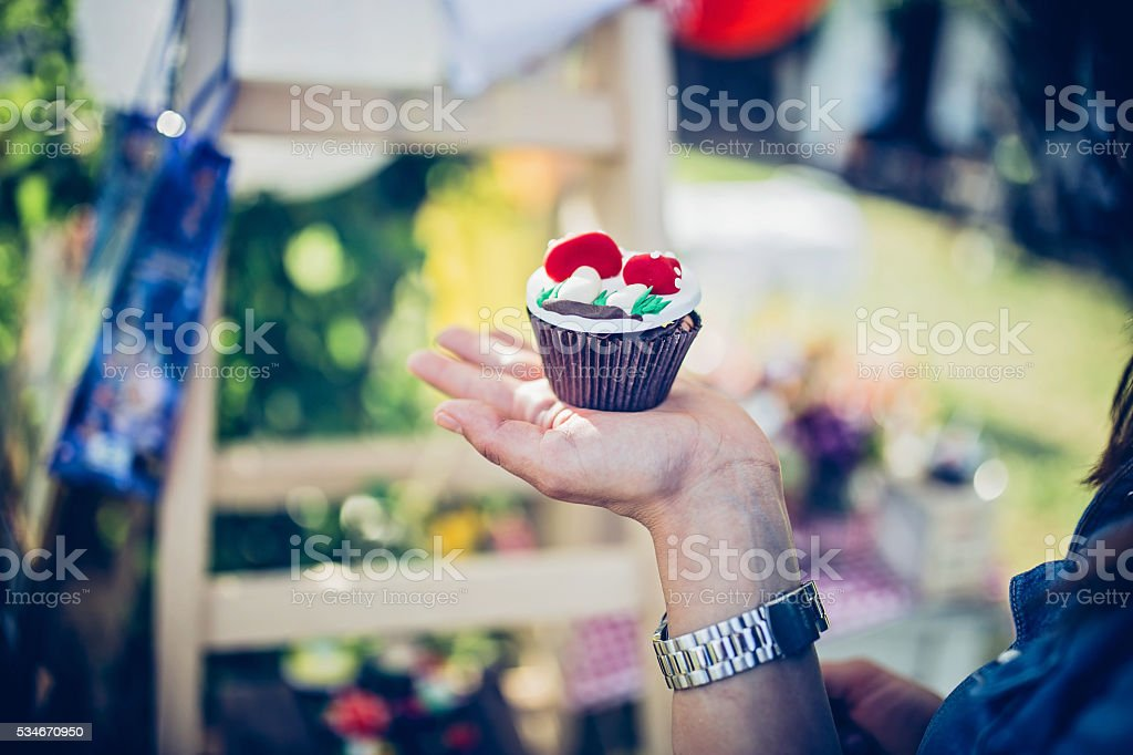 The beauty of Cupcake stock photo