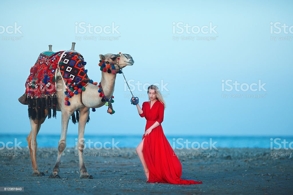 the beauty of exoticism stock photo