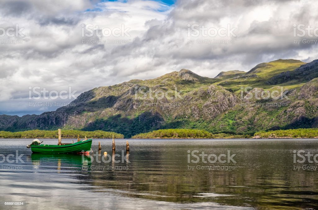The Beauty Of Loch Maree In Scotland stock photo